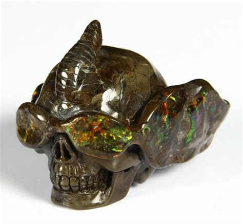 cool gemstone ammolite carved skull with sunglasses skullis gemstone skulls
