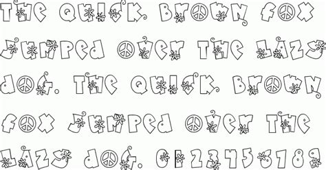 free doodle dingbat fonts doodle flower power free font