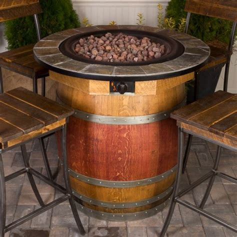 barrel fire pit wine barrel fire pit napa east collection wine country