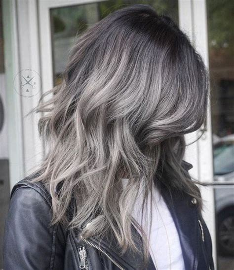 camaflauge grey hair with ombre 40 grey ombre hair ideas herinterest com