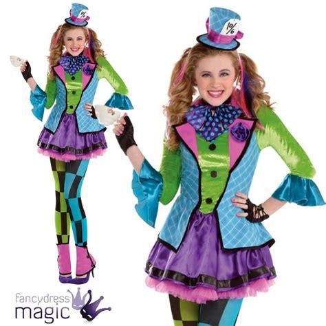 niña adolescente SASSY Sombrerero Loco Alice in wonderland Disfraz Halloween   eBay