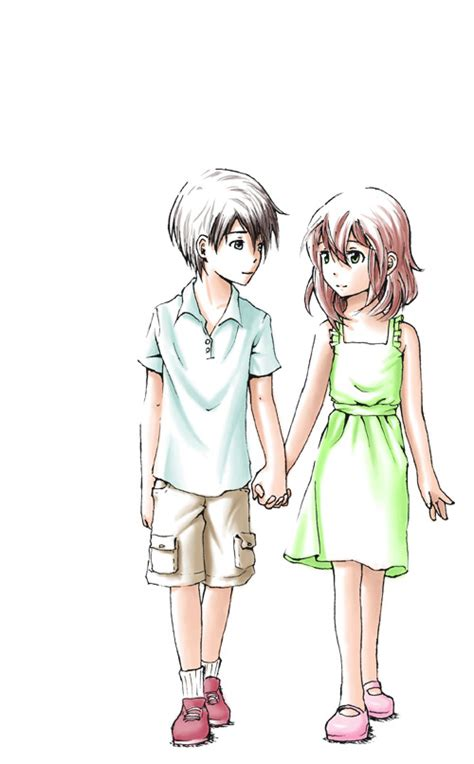 anime boy holding girl anime girl and boy holding hands drawing www imgkid com