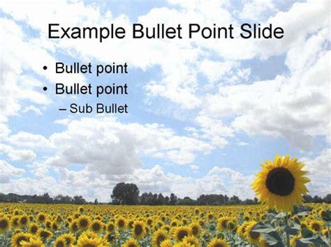 sunflower powerpoint template free sunflower powerpoint template