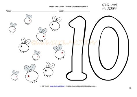 coloring pages of the number 10 number coloring pages number 10