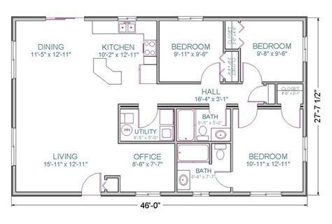 Ranch Style Open Floor Plan Modular Prow Tlc Homes