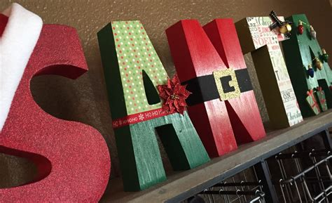decorative christmas letters santa block wooden letters santa letters