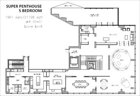 singapore floor plan wallich residence penthouse singapore tallest building