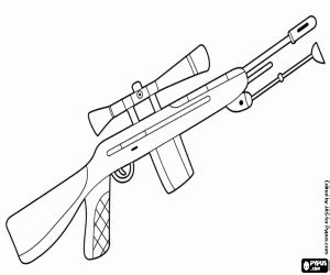 sniper gun coloring page weapons coloring pages printable games