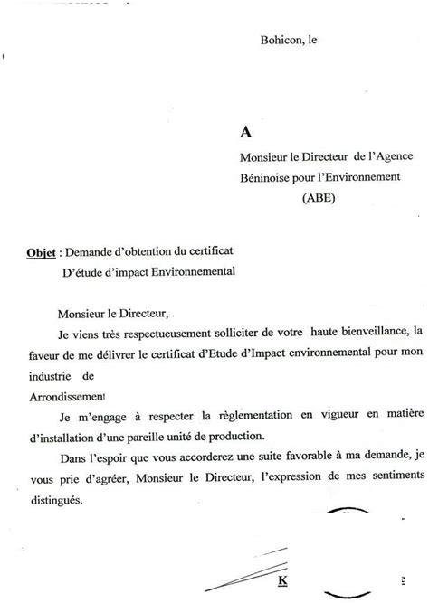 Mod Les De Lettre Adress E Un Ambassadeur exemple lettre administrative