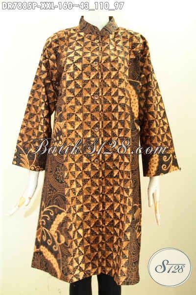 Baju Batik Bigsize busana batik kerja wanita gemuk baju batik terusan wanita
