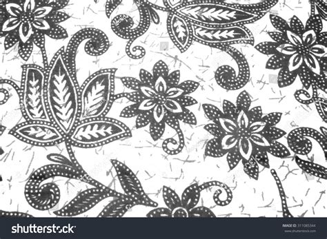 batik design black and white beautiful art malaysian indonesian batik pattern stock