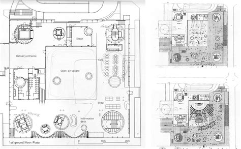 sendai mediatheque floor plans sendai first floorplan library pinterest empty spaces