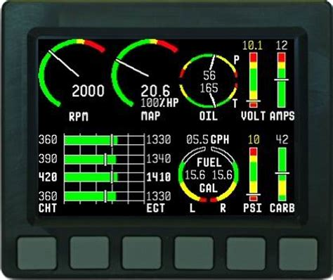 dynon avionics ems  engine monitor  aircraft spruce