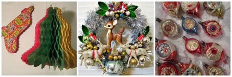 80s christmas decorations wool tree be a