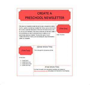 printable newsletter templates free 13 printable preschool newsletter templates free word