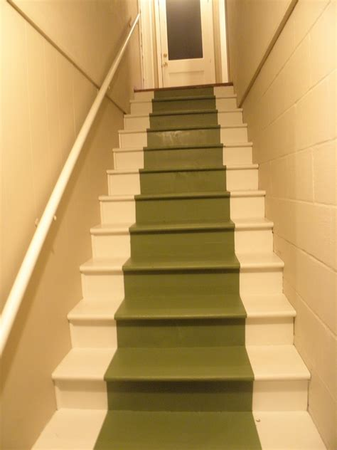 painted basement stairs ideas grezu home interior