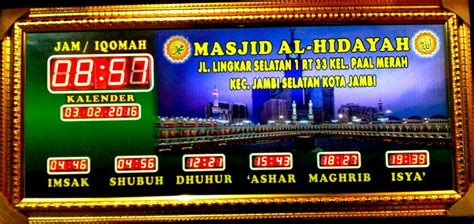 Jadwal Sholat Digital Jam Masjid Waktu Sholat Rt Series toko jadwal shalat menjual jam digital jadwal shalat