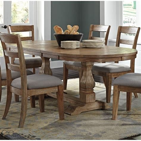 Light Brown Dining Table Danimore Oval Butterfly Dining Table In Light Brown D473 45tb Kit