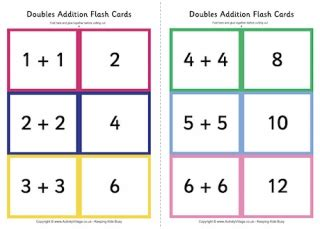 addition flash card template flash cards