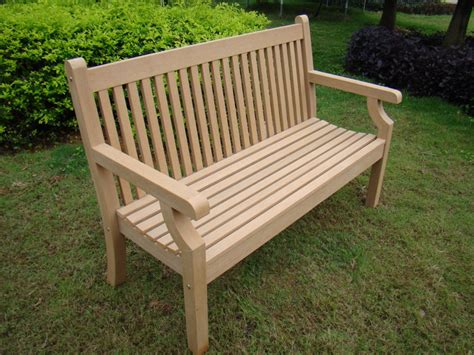 hardwood garden benches sandwick winawood 2 seater wood effect garden bench teak finish 163 246 06