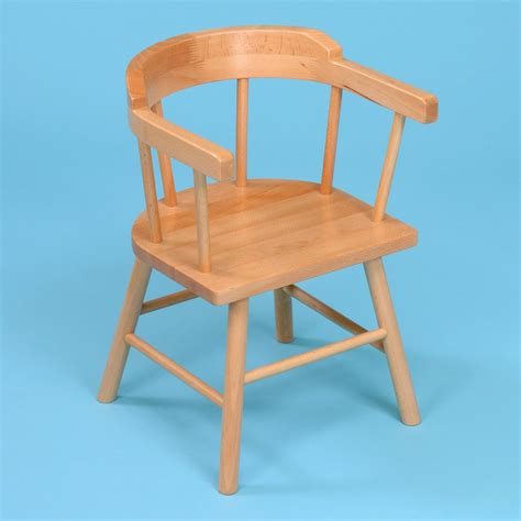 Childrens Wooden Armchair by 2 X Wooden Children S Captains Chairs From Early Years