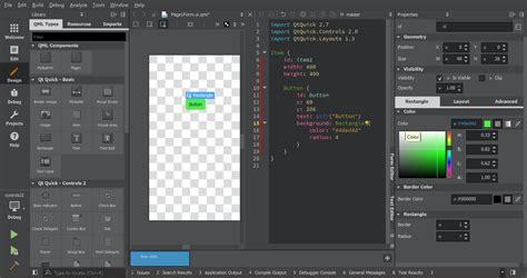 qml toolbar layout qt quick designer in qt creator 4 3 qt blog