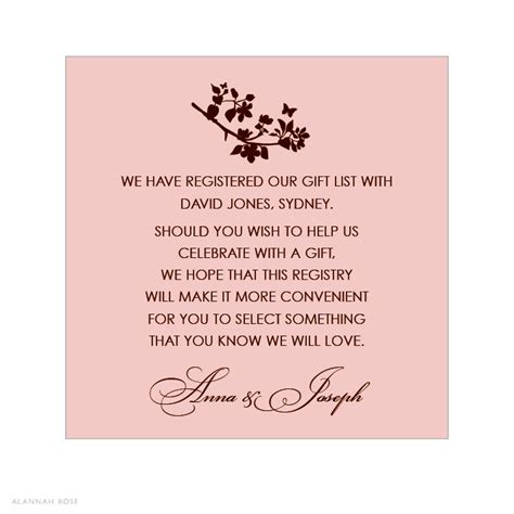 printable bridal shower registry inserts unique bridal shower invitation etiquette registry ideas