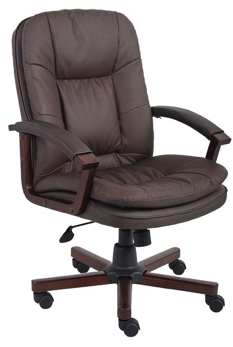 presidential seating executive bomber brown leatherplus