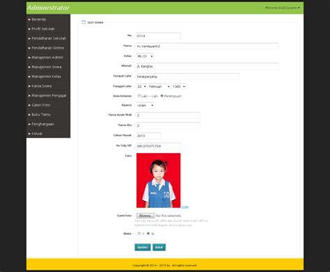 cara membuat edit artikel dengan php website sekolah dan pendaftaran siswa baru online php mysql