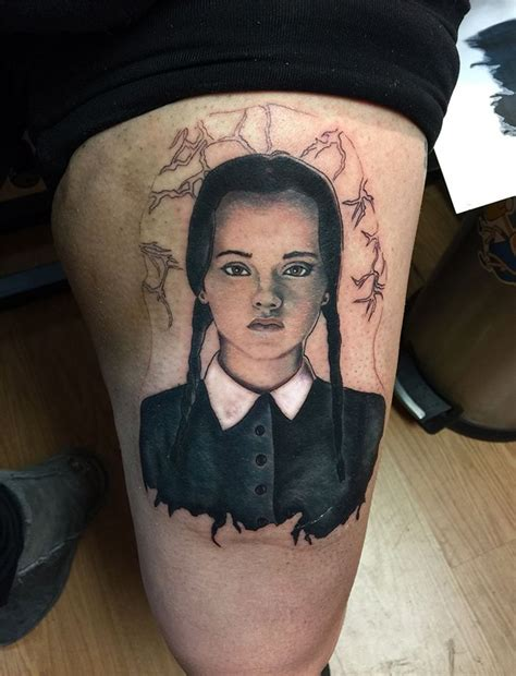 christina ricci tattoos wednesday family on my skin