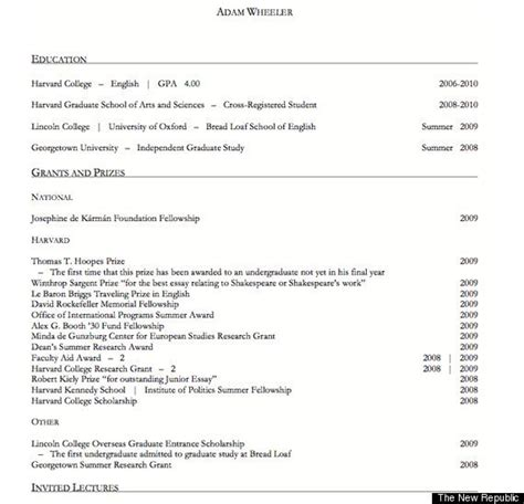 harvard extension school resume guidelines harvard resumes exles of resumes