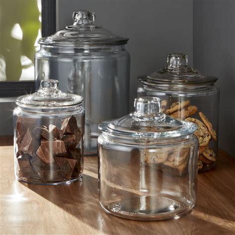 Labels For Kitchen Canisters Heritage Hill Glass Jars With Lids Crate And Barrel
