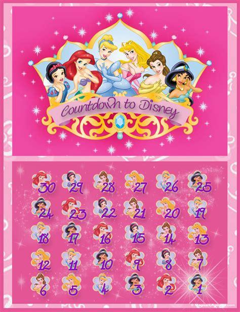 princess theme countdown calendar disney world countdown