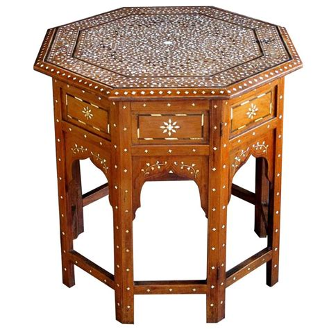 Indian Table L Finely Inlaid Anglo Indian Octagonal Traveling Table For Sale At 1stdibs
