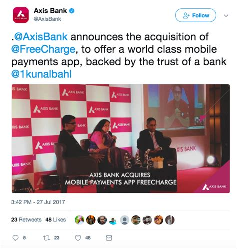 axis bank freecharge offer will axis bank succeed by relying on freecharge for