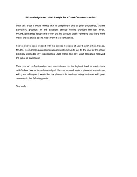 Acknowledgement Letter To Customer acknowledgement letter templates free templates in doc ppt pdf xls