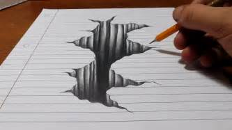 3d online drawing trick art on line paper drawing 3d hole youtube