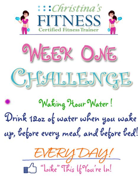 How To Get Fit And Free by Week 1 Challenge Drink More Water Christinasfitness