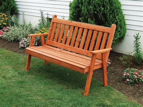 Cedar Traditional English Bench From Dutchcrafters Amish Outdoor Cedar Furniture
