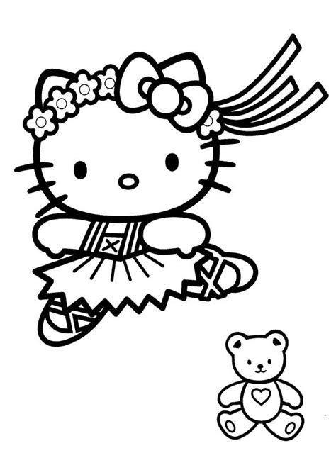 dibujos para colorear zapatillas de ballet dibujos para colorear hello kitty bailando ballet