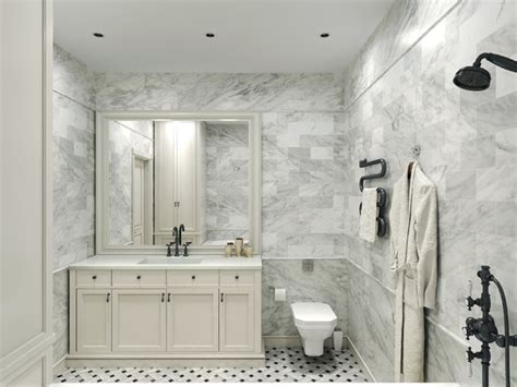 Carrara Marble Tile White Bathroom Design Ideas   Modern   Bathroom   New York   by All Marble Tiles