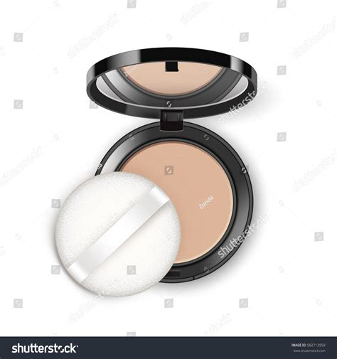Weekend Roundup Lipstick Powder N Paint by Vector Cosmetic Makeup Powder Black Stock Vector