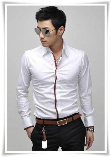 Kemeja Cowo Korea Trend Relief crowz zero warna warni trend korean fashion di