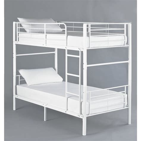 White Metal Bunk Bed Hyder Seattle White Metal Bunk Bed