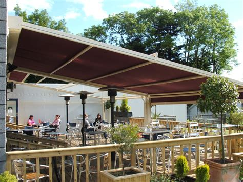 terrace awning bespoke retractable canopies roof systems aspiration blinds