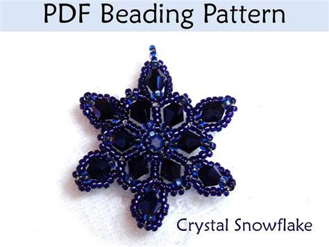 snowflake bead pattern free seed bead patterns snowflake beading pattern