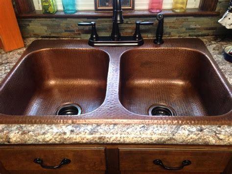 copper drop in kitchen raphael drop in copper sinks for the kitchen by sinkology