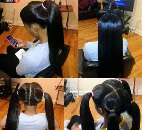 4 part vixen sew in with a 12 and 14 in virgin malaysian hair straight model materials com