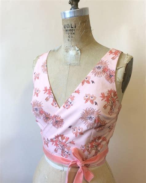 sewing pattern wrap top pattern hacking flora wrap top sewing pinterest