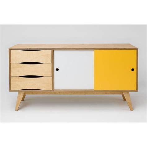 Sideboard Esszimmer Design by Sideboard Kommode Sosixties In Holz Gelb Wei 223 F 252 R